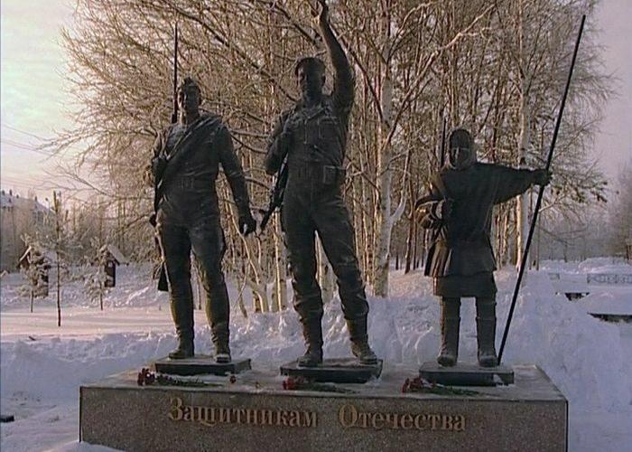 Открыт памятник «Защитникам Отечества» в д. Русскинская